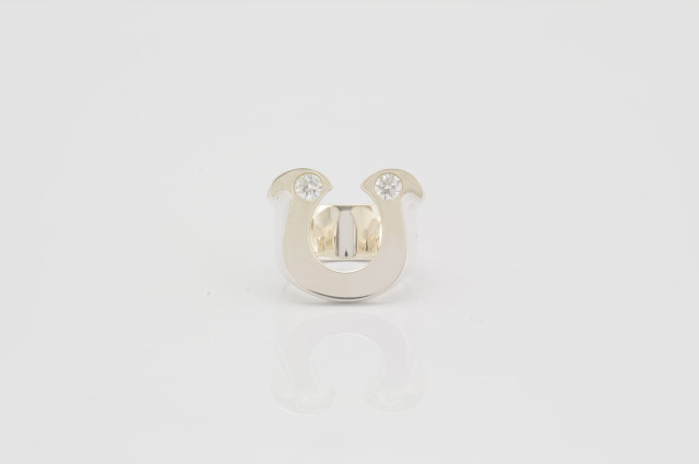 RG-003 HORSE SHOE Zirconia Clear